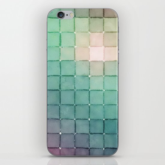Polaroid Pixels VIII (Glow) iPhone & iPod Skin
