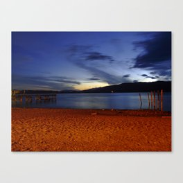 Lake Te Anau at dusk, New Zealand Canvas Print