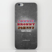 lebron iPhone & iPod Skins featuring Lonnie, Bronny, Johnny by Melissa Olson