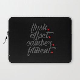 flush offset camber fitment v4 HQvector Laptop Sleeve