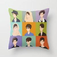 tegan and sara Throw Pillows featuring Tegan and Sara: Montage by Cas.