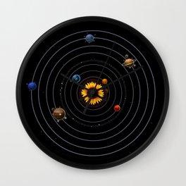 Sunflower system Wall Clock
