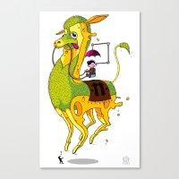 lama Canvas Prints featuring Lama by ART OF SOOL