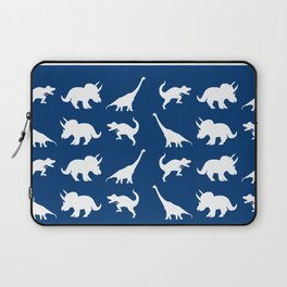 Blue and White Dinosaurs Laptop Sleeve