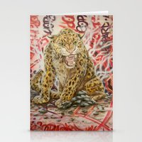 leopard Stationery Cards featuring Leopard by Michael Hammond