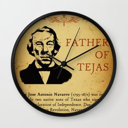 Don Jose Antonio Navarro Poster Wall Clock