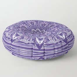 Great Purple Mandala Floor Pillow