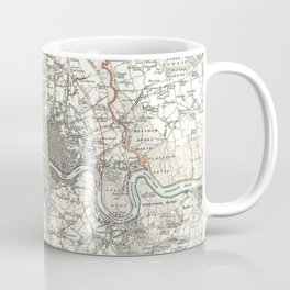 Vintage Map of London England (1832) Coffee Mug