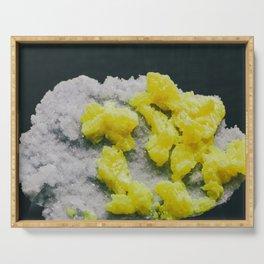 Sulfur on Celestine Serving Tray
