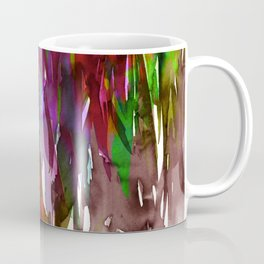 FERVOR 3 Colorful Bold Abstract Autumn Fall Crimson Red Purple Mauve Green Watercolor Painting Art Coffee Mug