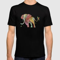 Elephant Ini Mens Fitted Tee Black MEDIUM