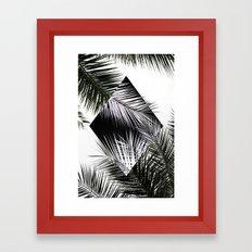 Palm Leaves 3 Geometry Framed Art Print