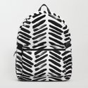Simple black and white handrawn chevron - horizontal -  #Society6 by simplicity_of_live