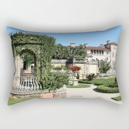 Villa Vizcaya Garden View Rectangular Pillow