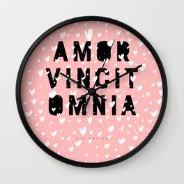 Amor Vincit Omnia • Love Conquers All Wall Clock