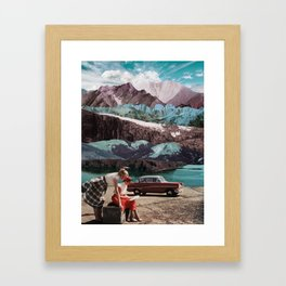 Planning the next trip Framed Art Print