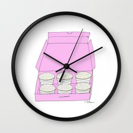 C U P C A K E  BOX Wall Clock