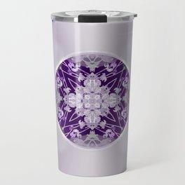 Vinyl Record Illusion in Purple Travel Mug