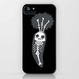 X-rays vegetables (black background) iPhone Case