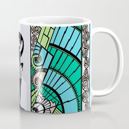SEASIDE DECO - ART DECO LADY: OCEAN SPA Coffee Mug