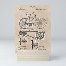 patent Bicycle 1890 Rice Mini Art Print
