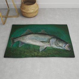 Striped Bass Fishing Art Prints Rug