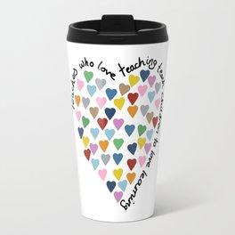 Hearts Heart Teacher Travel Mug