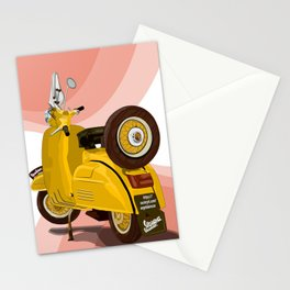 Vespa Vector yellow Stationery Cards