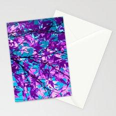 purple tree XXII Stationery Cards