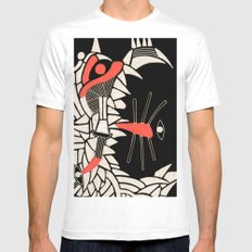 - partyrats - White MEDIUM Mens Fitted Tee