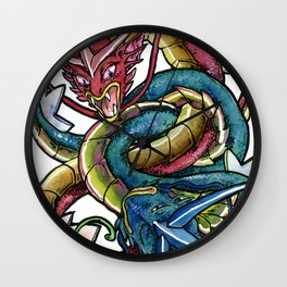 Red & Blue Wall Clock