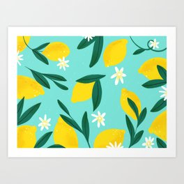 Lemon Pattern Art Print