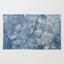 Snowflakes background macro winter Rug