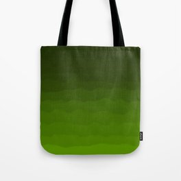Dark Rich Forest Green Ombre Tote Bag