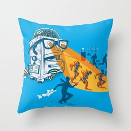 Bad Day At The Office Throw Pillow