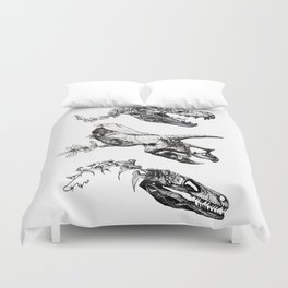 Jurassic Bloom. Duvet Cover