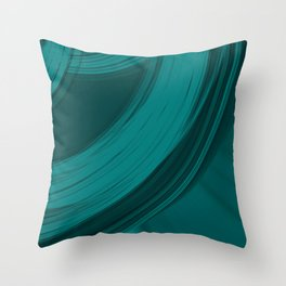 Gloomy semicircular cuts of heavenly fabric with intersections of dark ribbons Throw Pillow