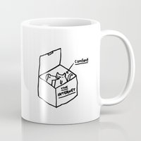 internet Mugs featuring The Internet by Saskdraws