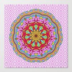 Mix&Match;  Pretty Pink Mandala Meditation pillow 02 Canvas Print
