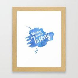 History Maker {Yuri on Ice} Framed Art Print