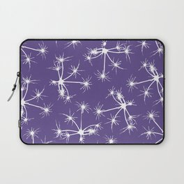 Floral Fireworks - Ultra Violet Botanical Pattern Laptop Sleeve