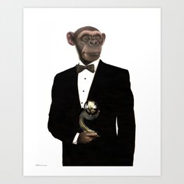 """GREAT APE      """"The Planet Earth Awards, Beyond Superstition"""" Art Print"""