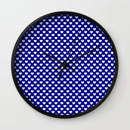 Large White Lovehearts on Australian Flag Blue Wall Clock