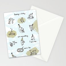 having a bird Stationery Cards