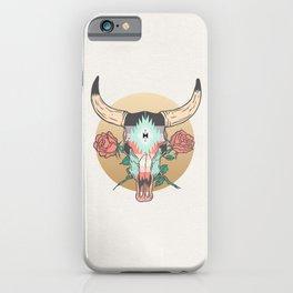 cráneo de vaca iPhone Case