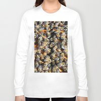 minions Long Sleeve T-shirts featuring Hive of Activity by Shawn Kelvin