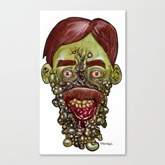 Heads of the Living Dead  Zombies: Gum Disease Zombie Canvas Print