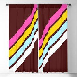 80's Style Retro Stripes Blackout Curtain