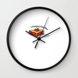 Lasagna Del Rey Wall Clock
