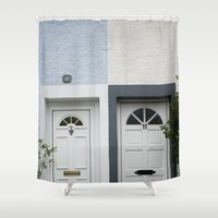 doors Shower Curtains featuring Front Doors by Ashley Williamson